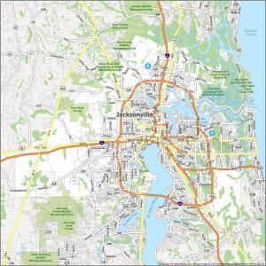 Jacksonville Road Map