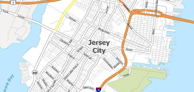 Jersey City Map Feature