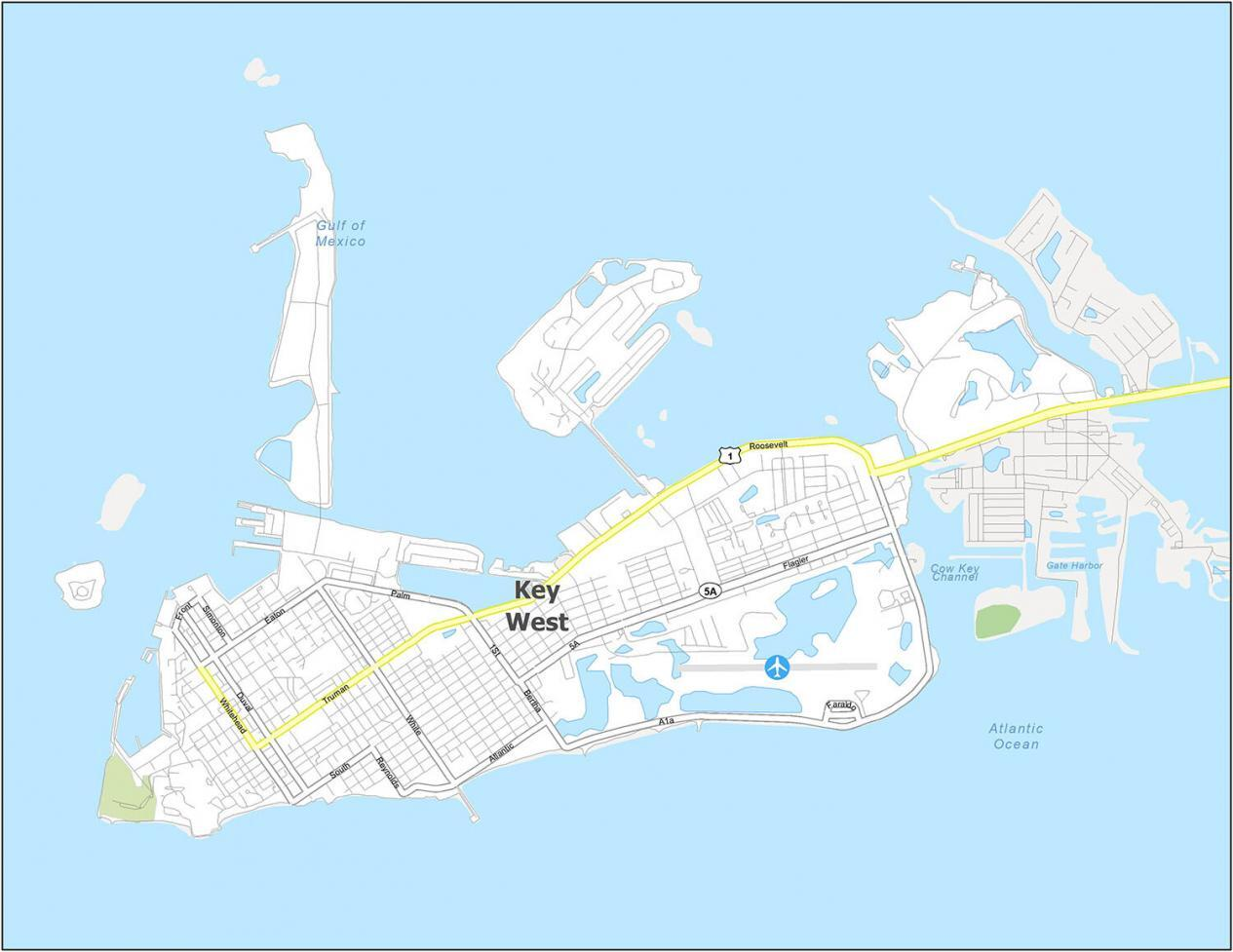 Key West Road Map