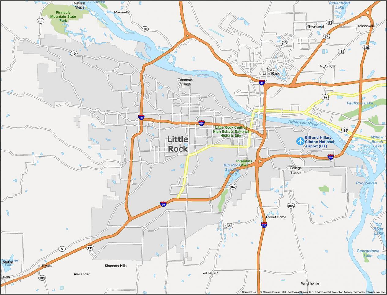 Little Rock Map Arkansas