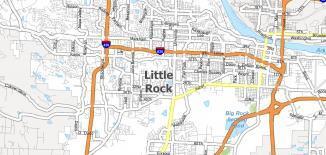 Little Rock Map