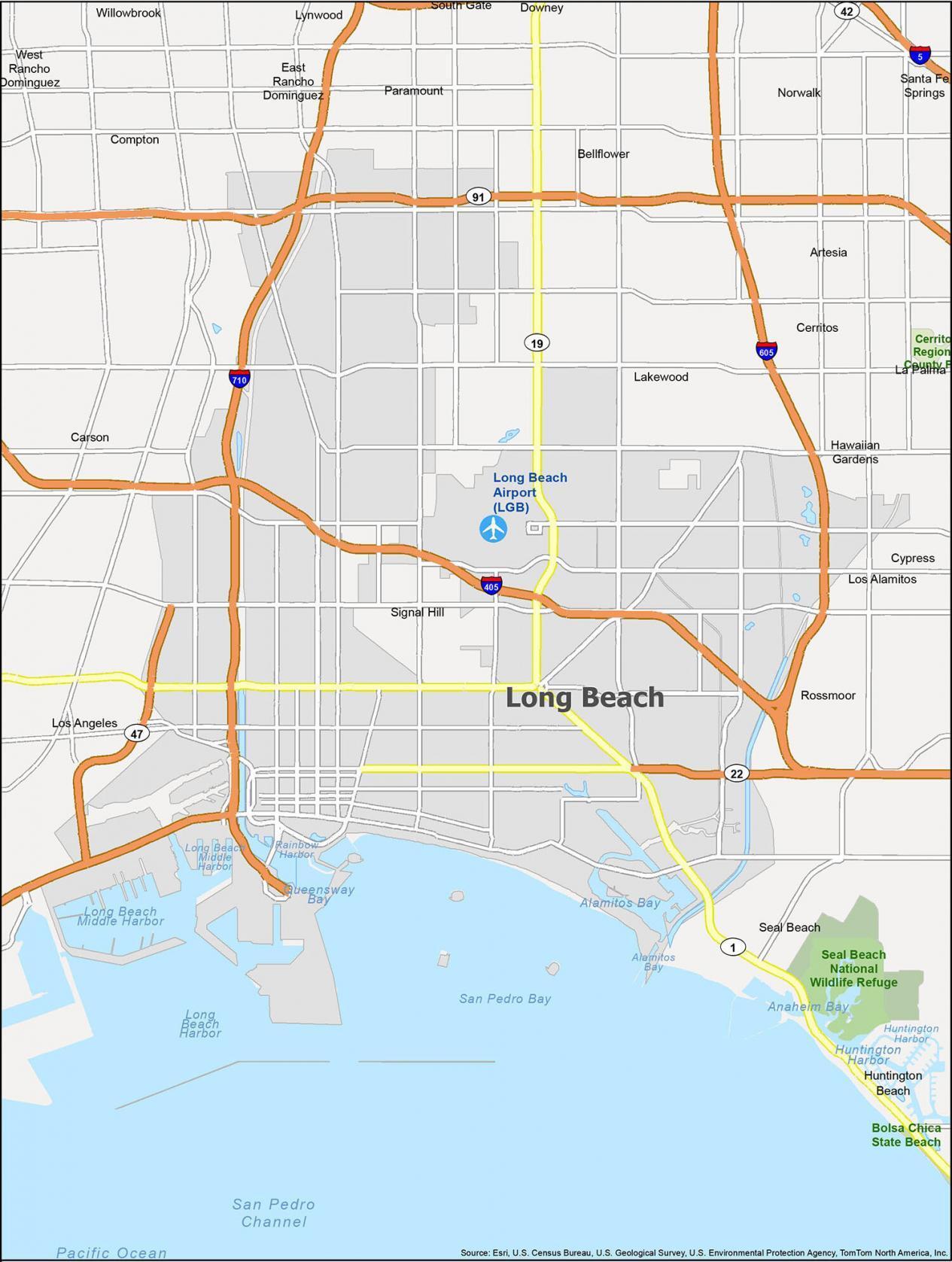 Long Beach Map California