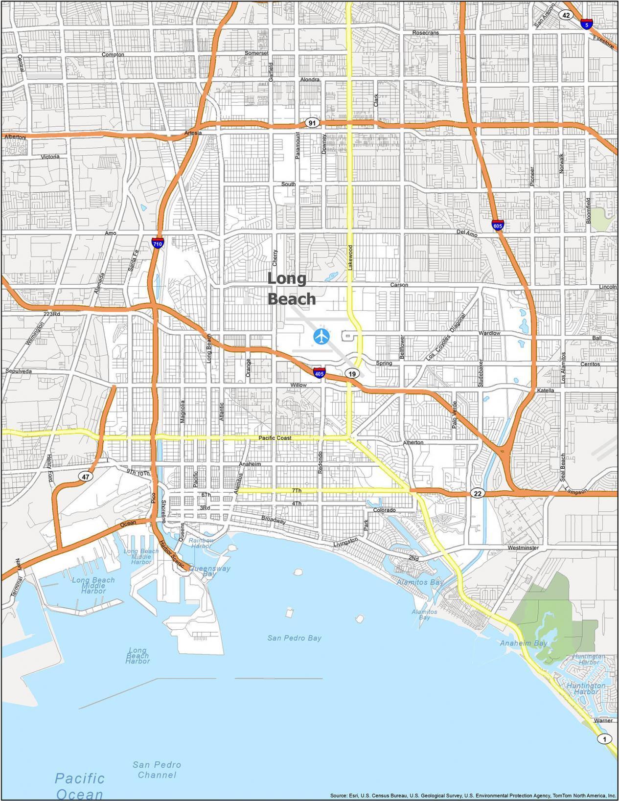 Long Beach Road Map