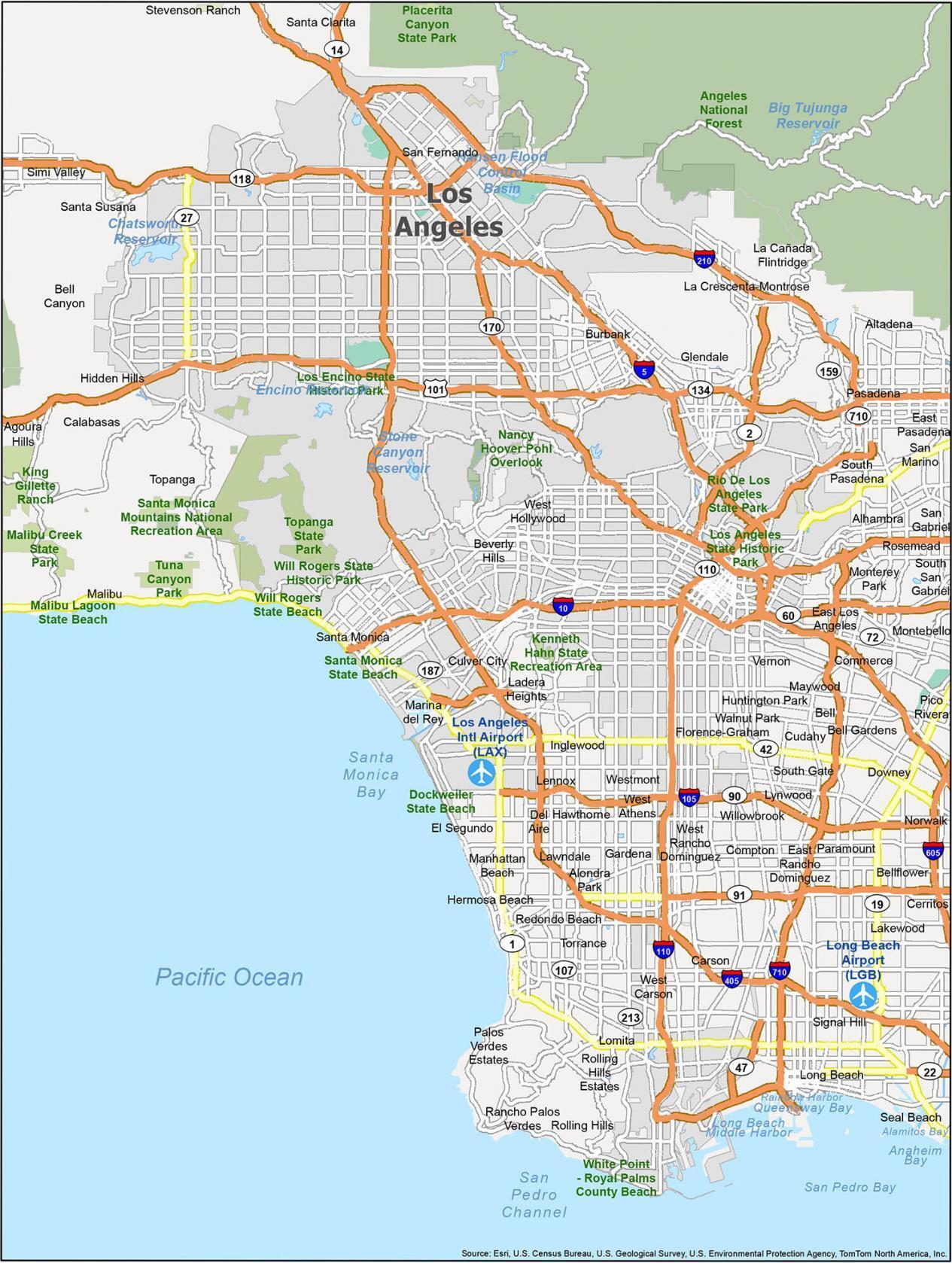 Los Angeles Map California