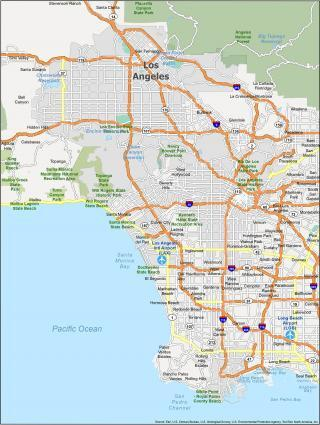 Los Angeles Map California