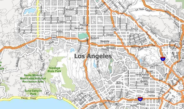 Map of Los Angeles, California