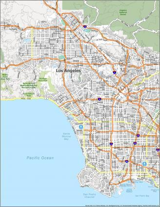 Los Angeles Road Map