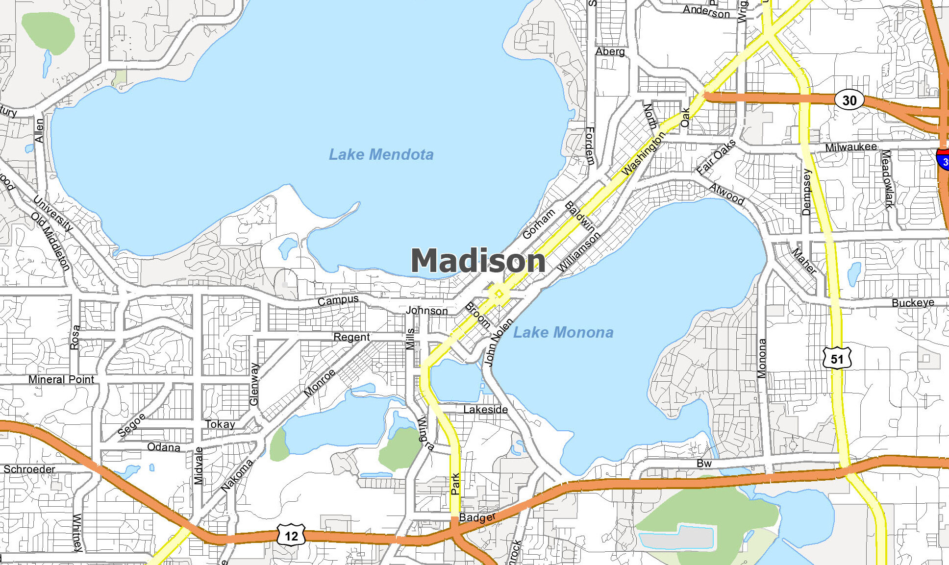 Madison Map Collection Wisconsin Gis Geography