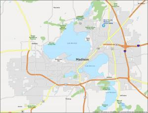 Madison Map Wisconsin