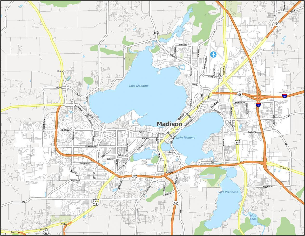 Madison Road Map