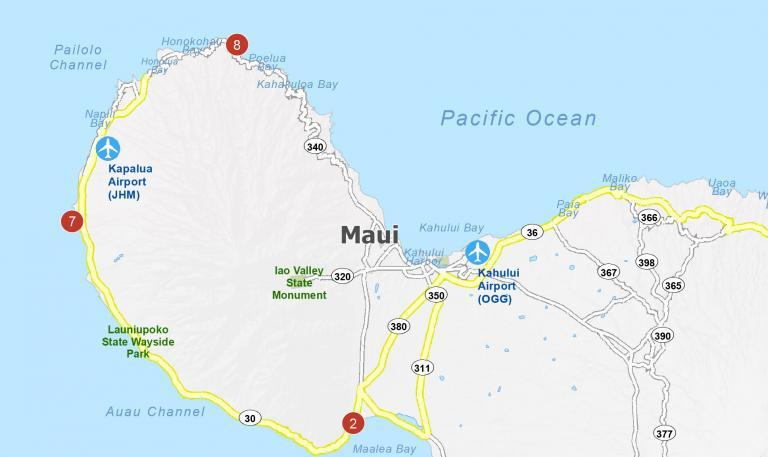 Map of Maui Island [Hawaii]