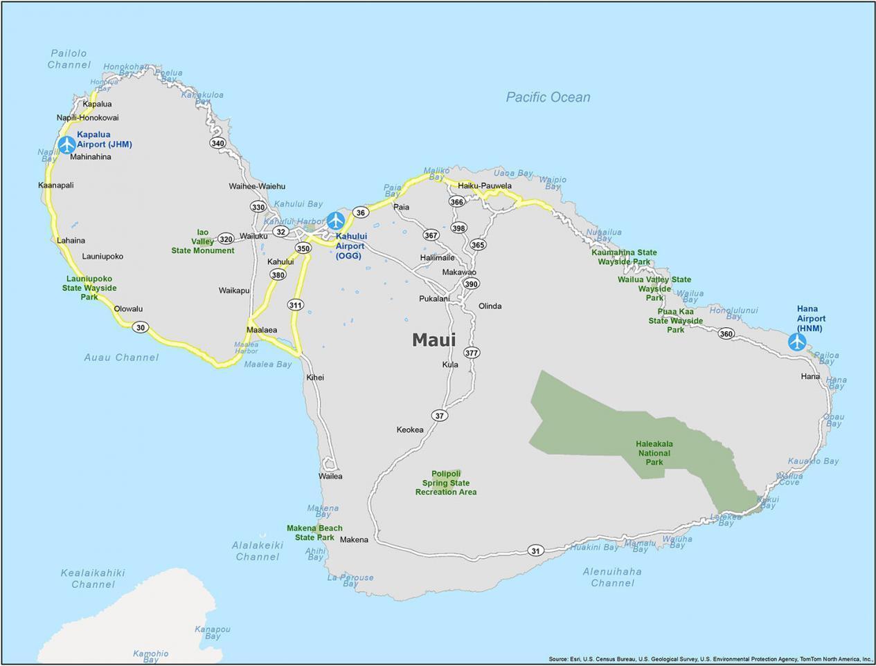 Maui Map Hawaii