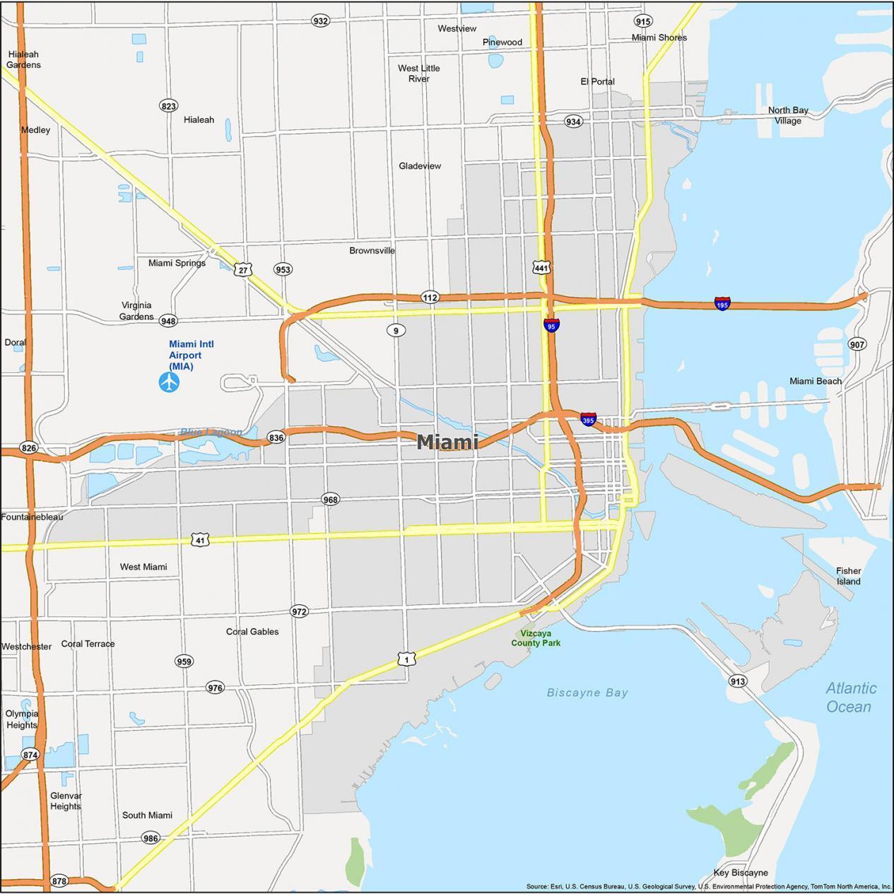 Miami Map Florida