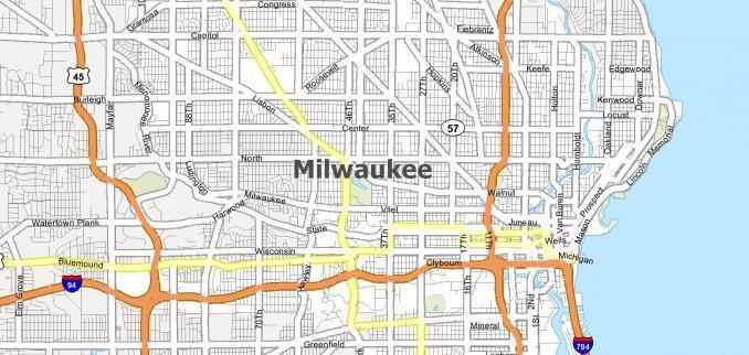 Milwaukee Map