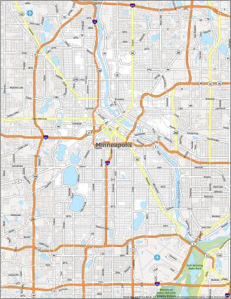 Minneapolis Road Map
