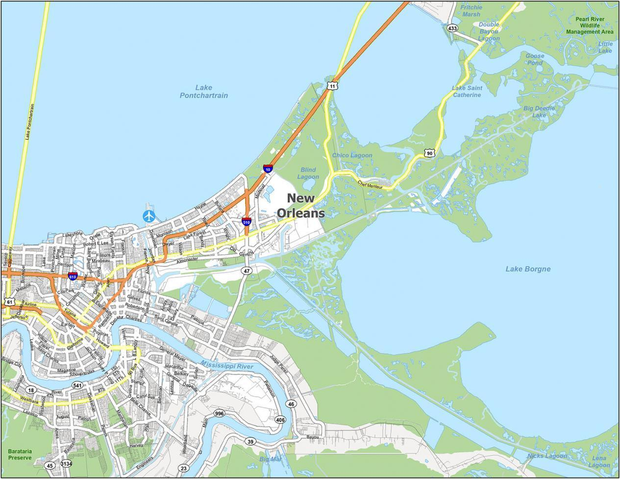 New Orleans Road Map