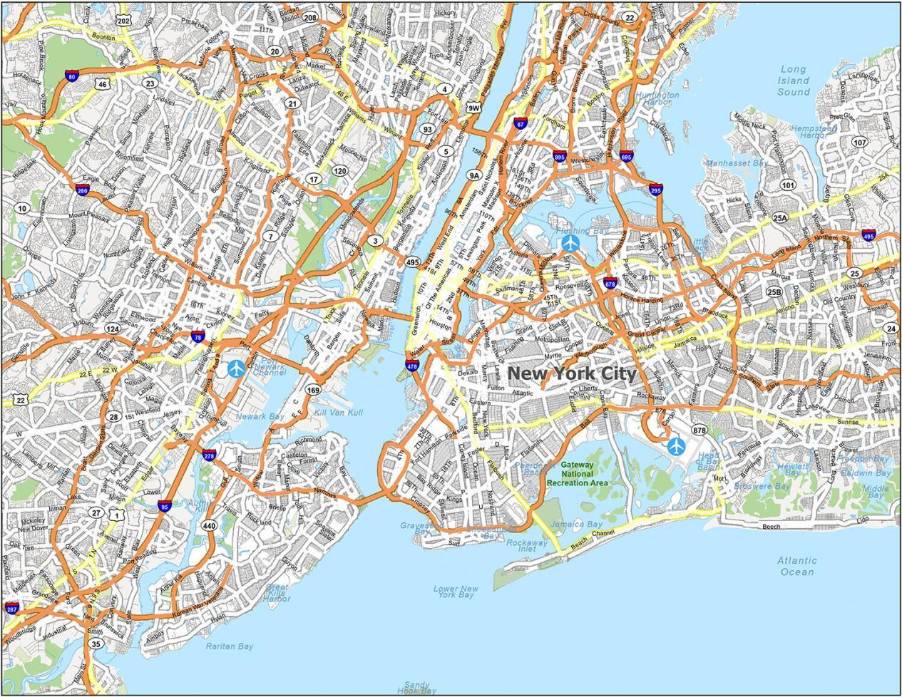 New York City Road Map