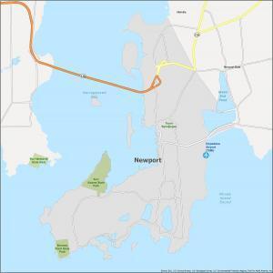 Newport Map Rhode Island