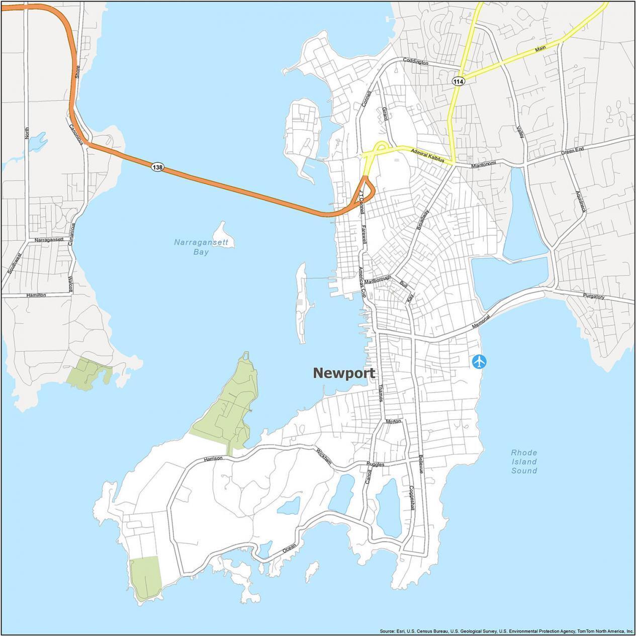 Newport Road Map