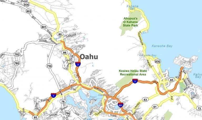 Map of Oahu Island [Hawaii]