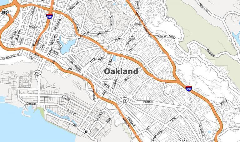 Oakland Map [California]
