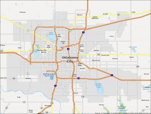 Oklahoma City Map Oklahoma
