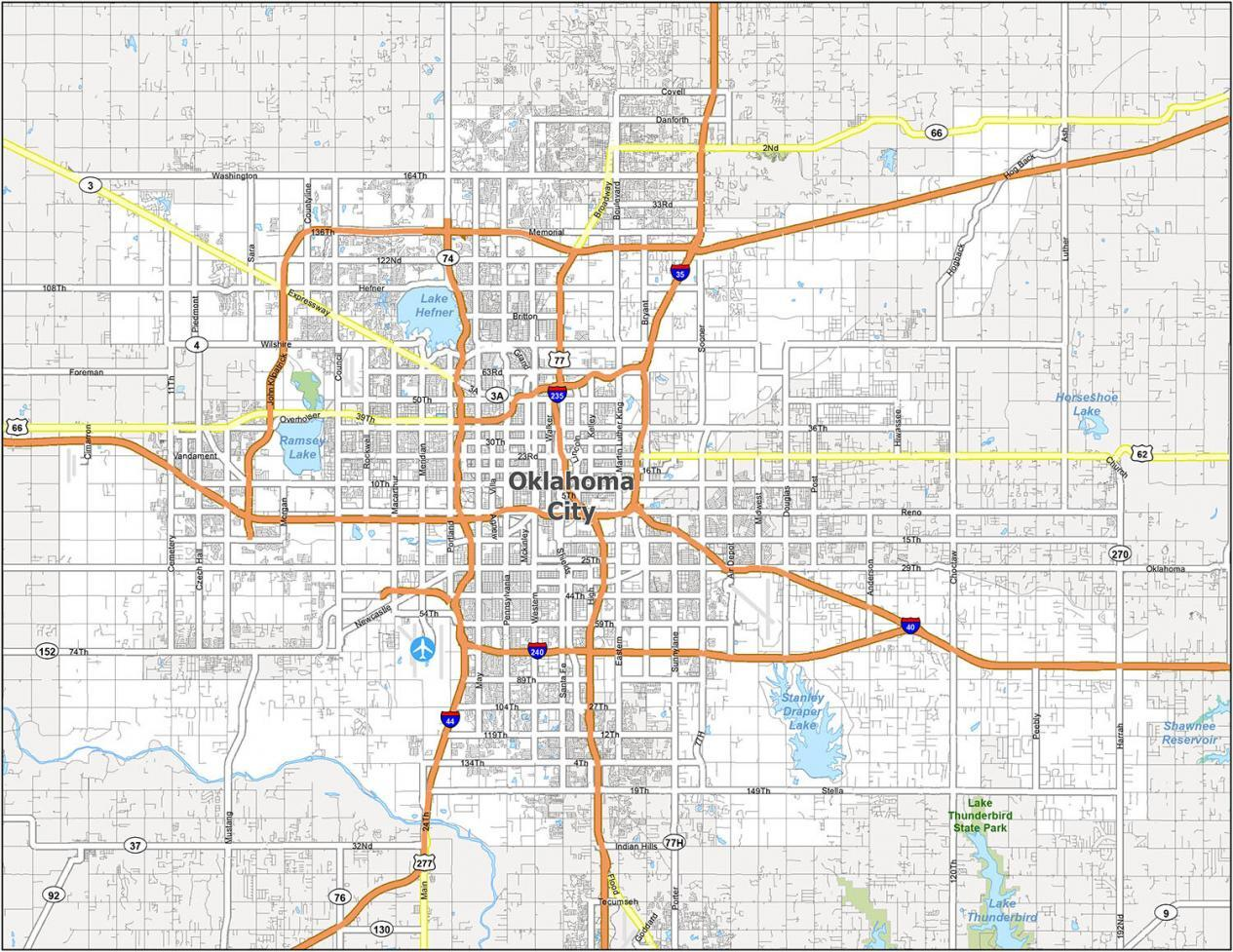 Oklahoma City Road Map