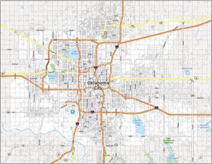 Oklahoma City Road Map