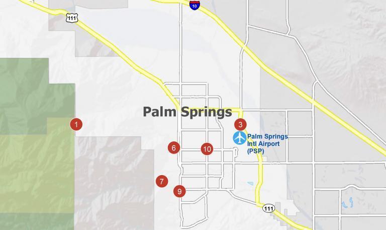 Palm Springs California Map