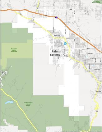 Palm Springs Road Map