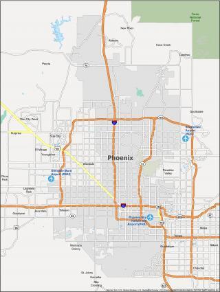 Phoenix Map Arizona