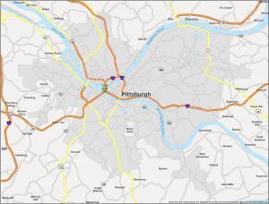 Pittsburgh Map Pennsylvania