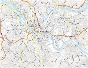 Pittsburgh Road Map