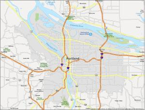 Portland Map Oregon