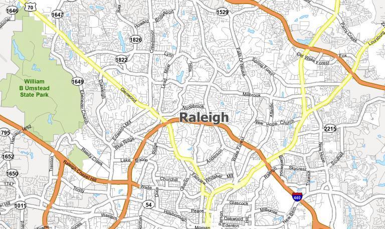 Raleigh NC Map [North Carolina]