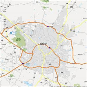 Raleigh Map North Carolina