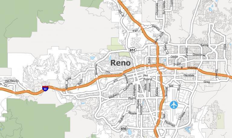 Reno Nevada Map