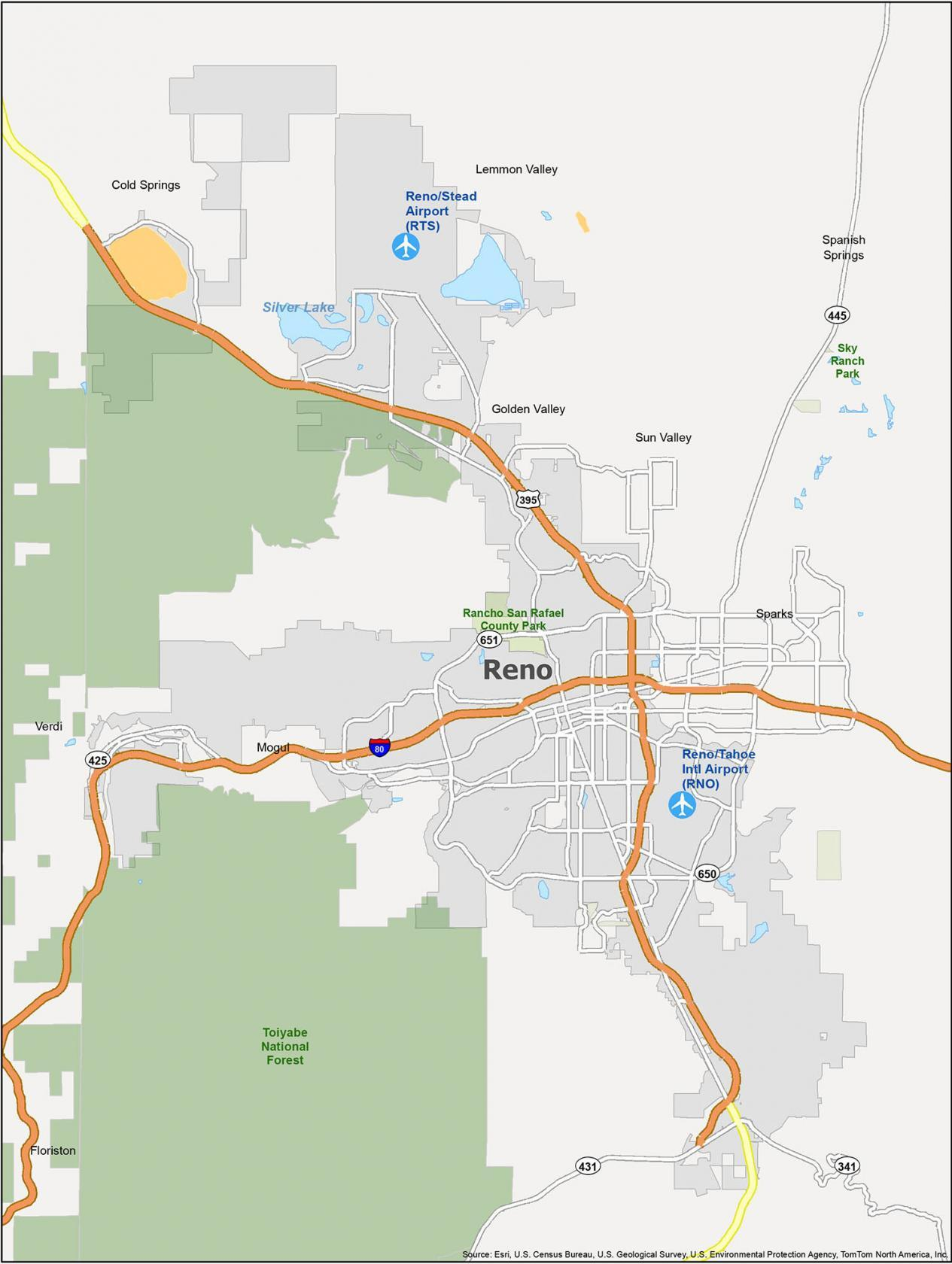 Reno Map Nevada