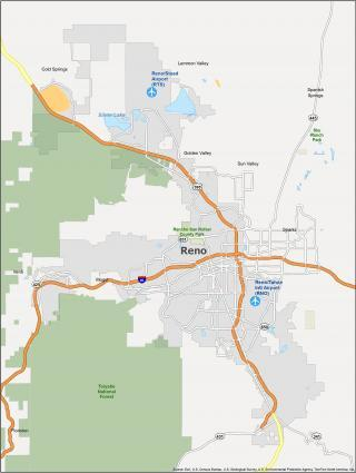 Reno Map Nevada