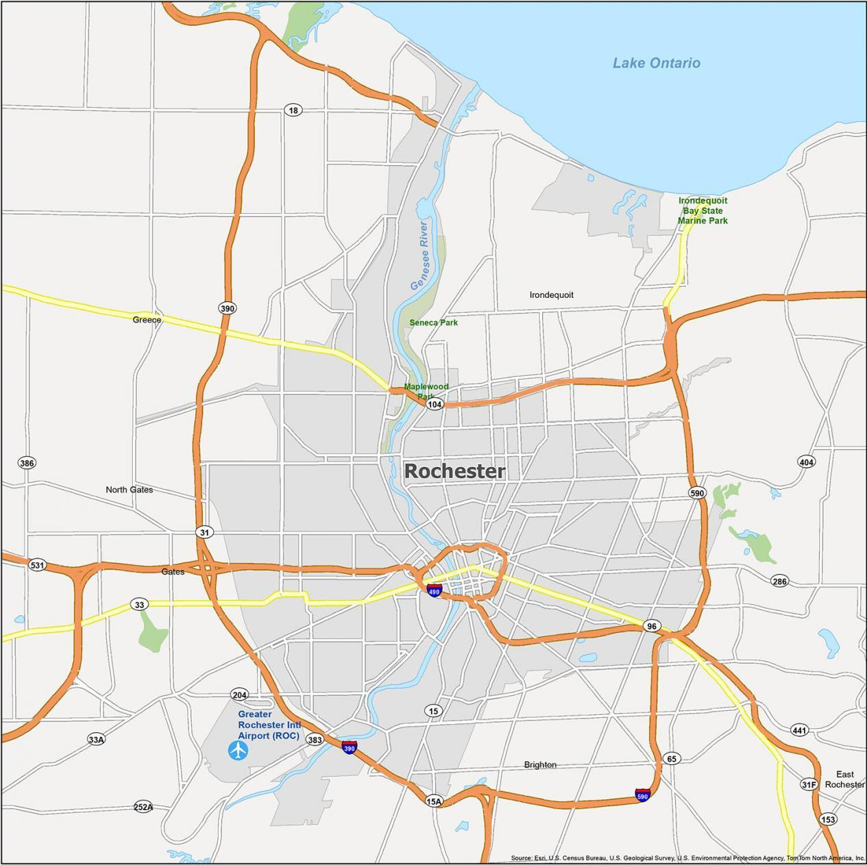 Rochester Map New York