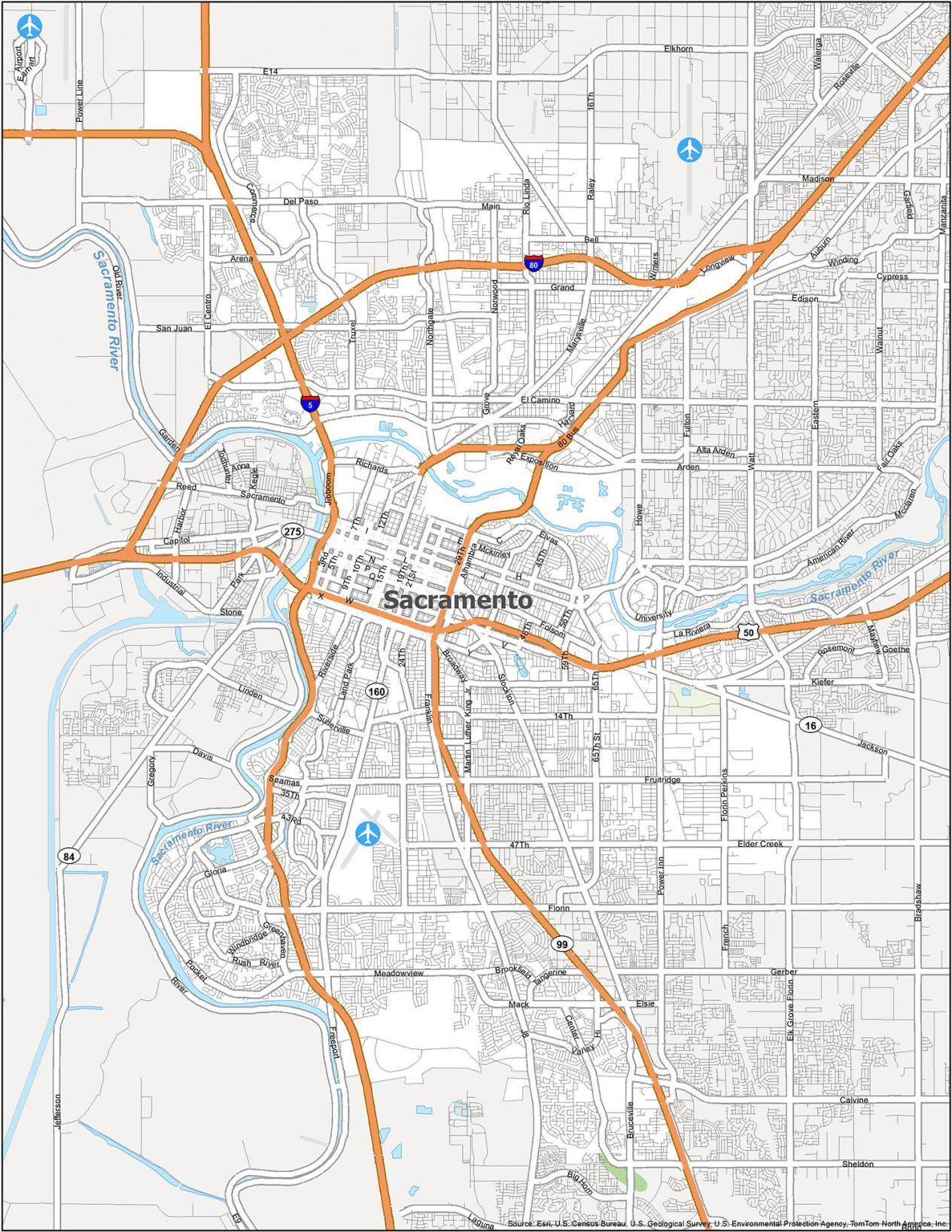 Sacramento Road Map