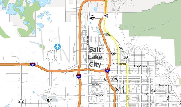 Salt Lake City Map [Utah]