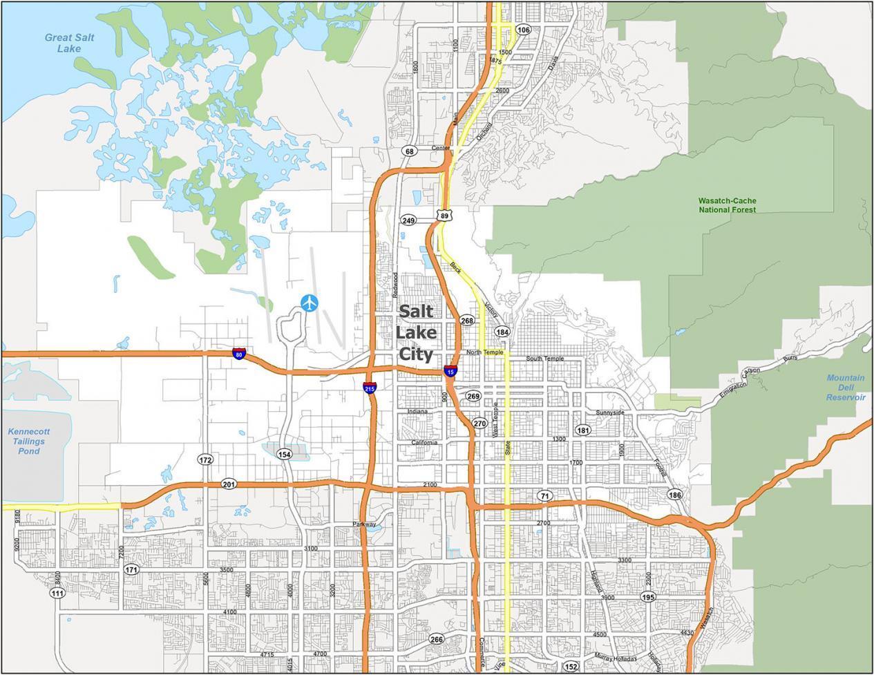 Salt Lake City Road Map