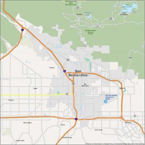 San Bernardino Map California