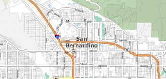 San Bernardino Map