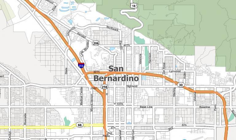 San Bernardino Map [California]