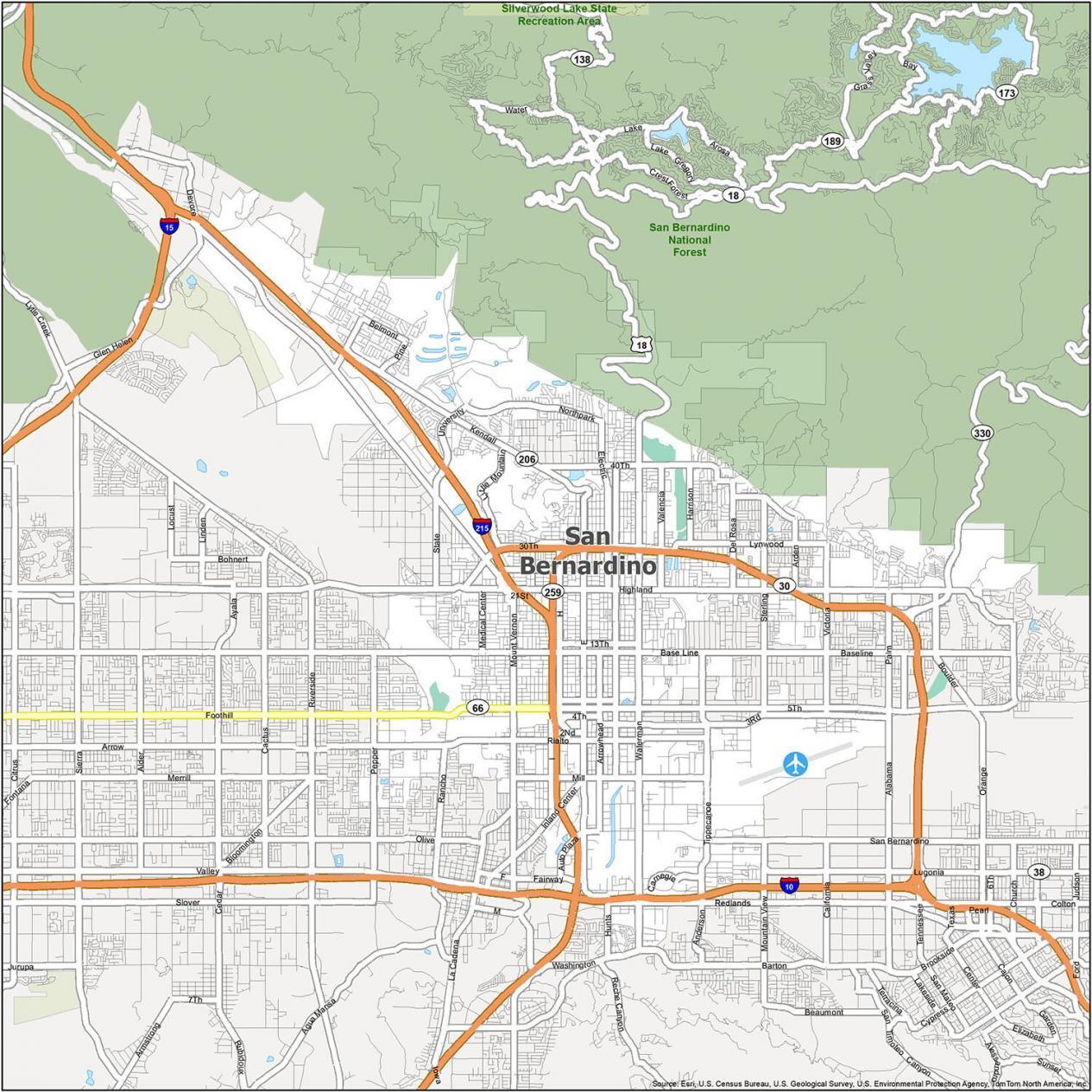 San Bernardino Road Map