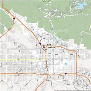 San Bernardino Road Map