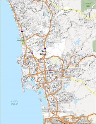 San Diego Road Map