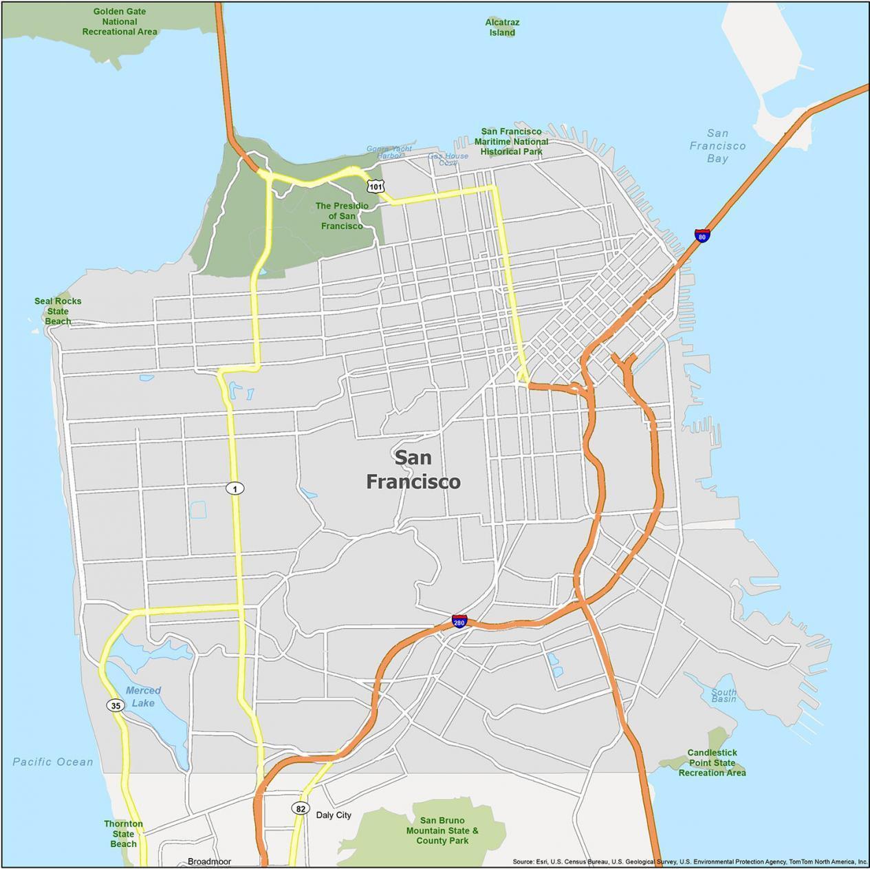 San Francisco Map California